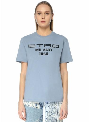 Etro Etro  Logo Baskılı T-shirt 101618004 Mavi